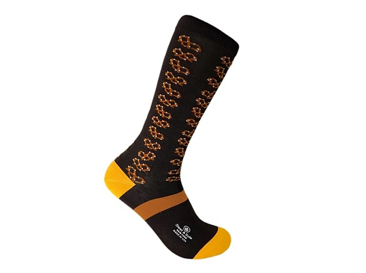 Pretzel Bamboo socks made in usa at sleet and sole