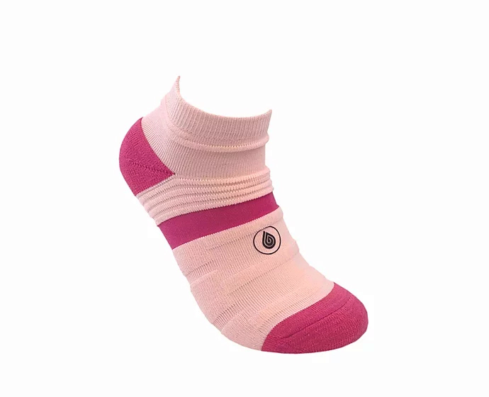pink athletic socks sport pro 1 made in the usa from bamboo fiber at sleet and sole