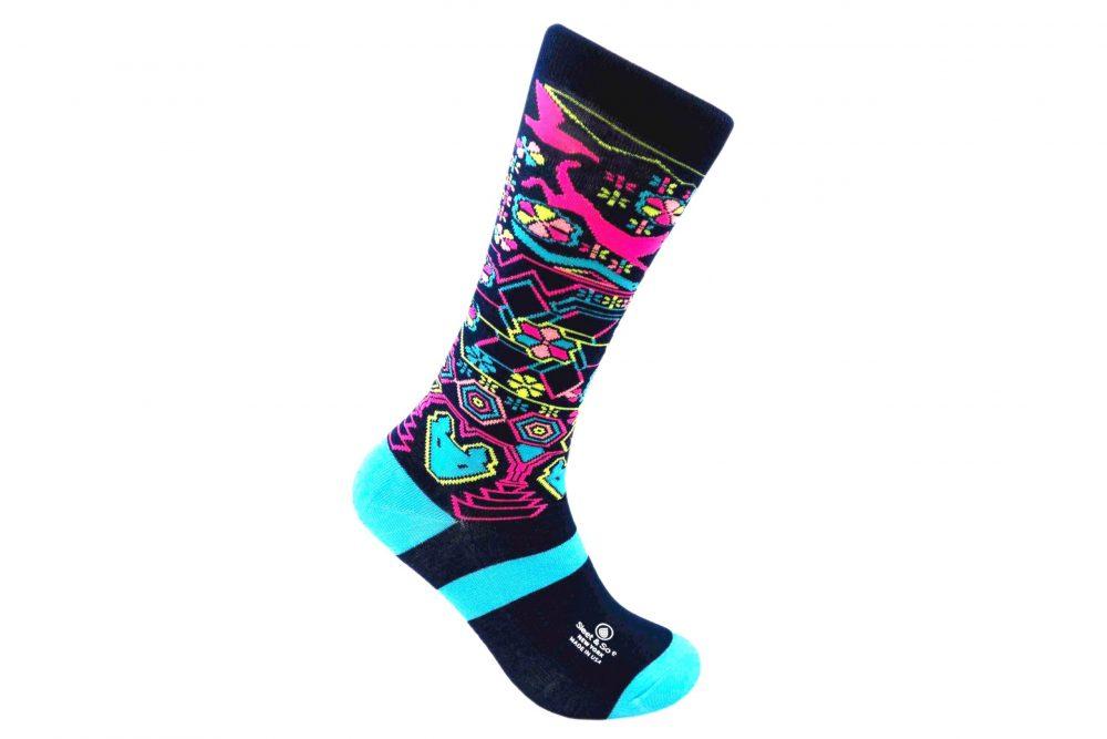 Artisanal Huichol Bamboo socks made in usa at sleet and sole