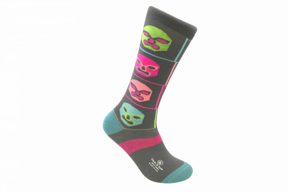 Luchadores Bamboo socks made in usa at sleet and sole
