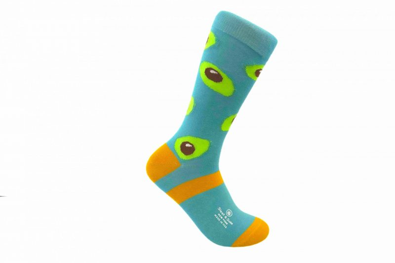 avocados bamboo socks made in the usa at sleet and sole
