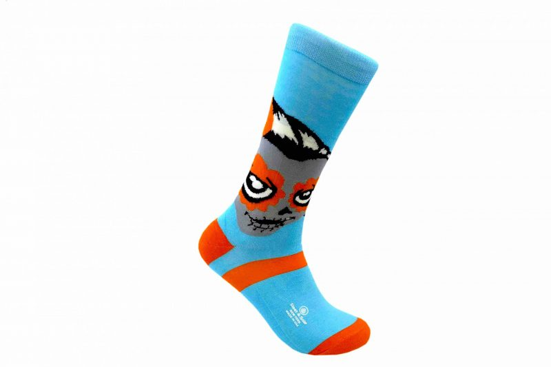 blue and orange mexican socks rosie the riveter bamboo socks made in the usa