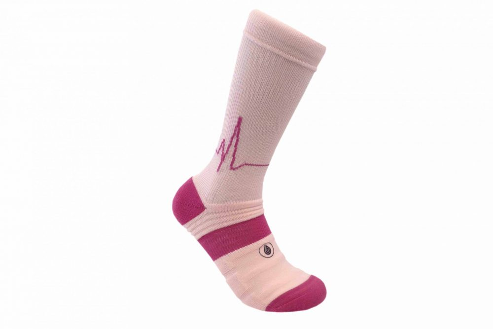 pink athletic socks sport pro 2 made in the usa from bamboo fiber at sleet and sole