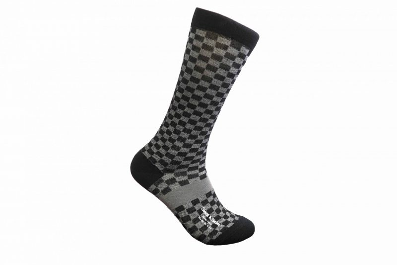 gray checkers bamboo socks made in the usa at sleet and sole factory