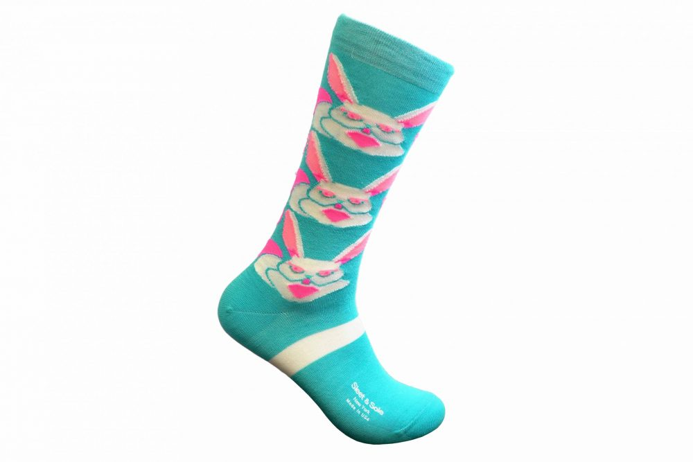 bunny bamboo socks made in the usa at sleet and sole factory