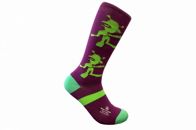happy alien socks made in the usa at sleet and sole factory