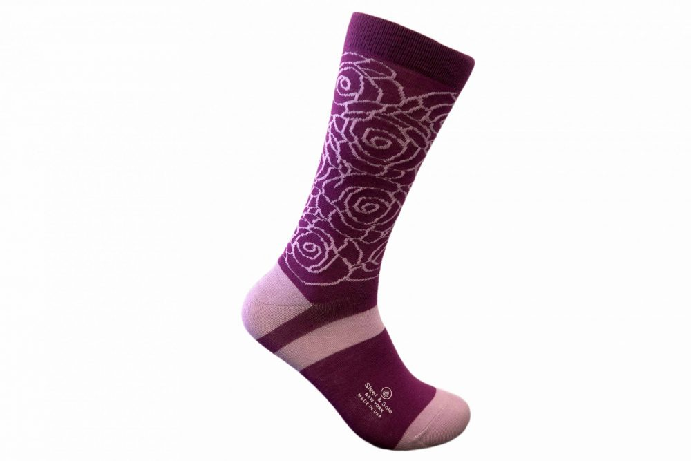 roses bamboo socks made in the usa at sleet and sole factory