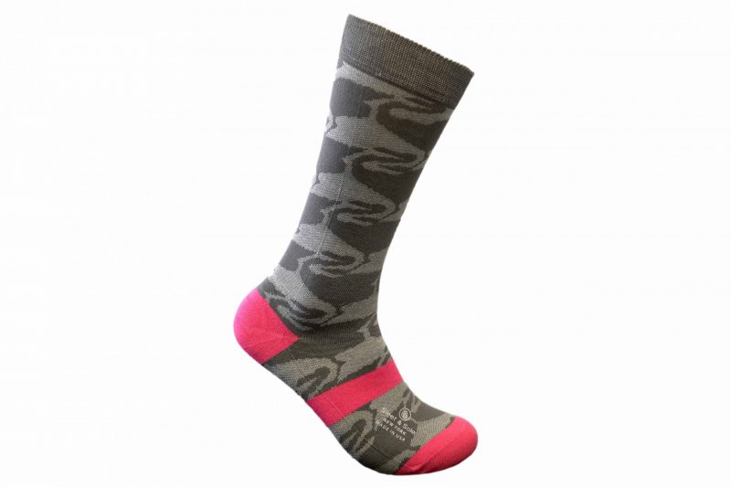 flamingo bamboo socks made in the usa at sleet and sole factory