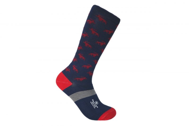 moose animal bamboo socks made in the usa at sleet and sole factory