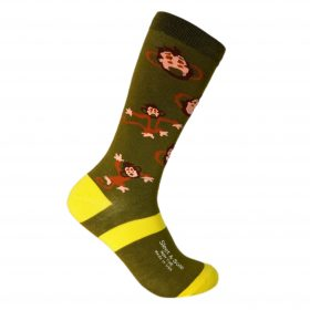 monkey bamboo socks made in usa sleet and sole