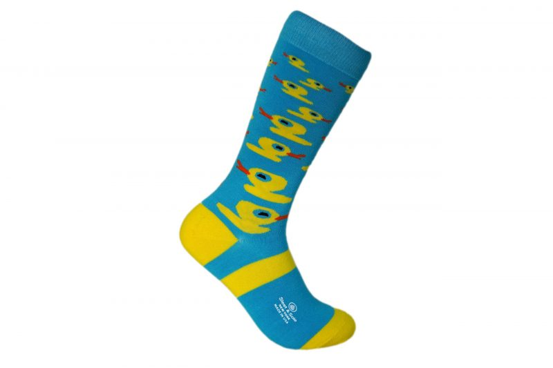 duck animal bamboo socks made in the usa at sleet and sole factory