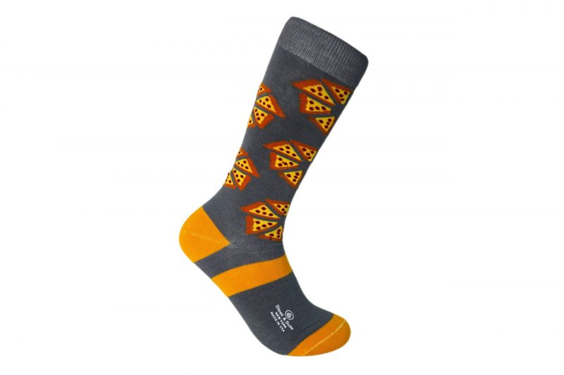 pizza bamboo socks made in the usa at sleet and sole factory