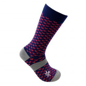 mini heart bamboo socks made in the usa at sleet and sole