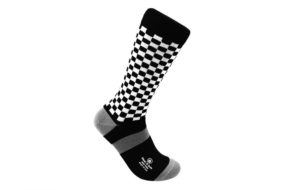 checkers bamboo socks made in the usa at sleet and sole factory