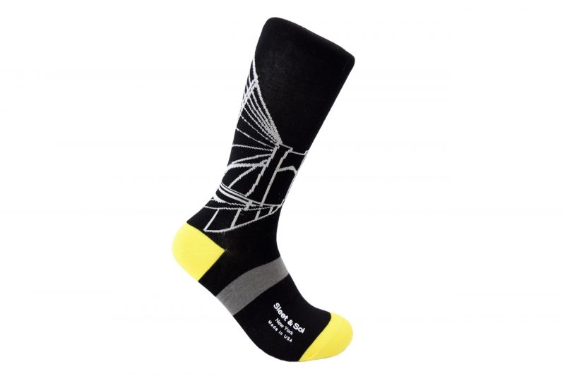 american Brooklyn Bridge Bamboo socks made in the usa at sleet and sole factory