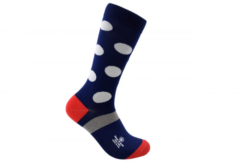 polka dots bamboo socks made in the usa at sleet and sole factory