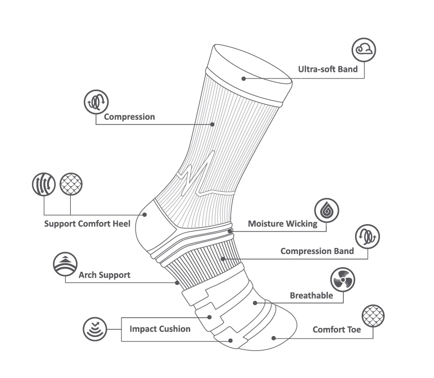 features athletic socks made in the usa at sleet and sole