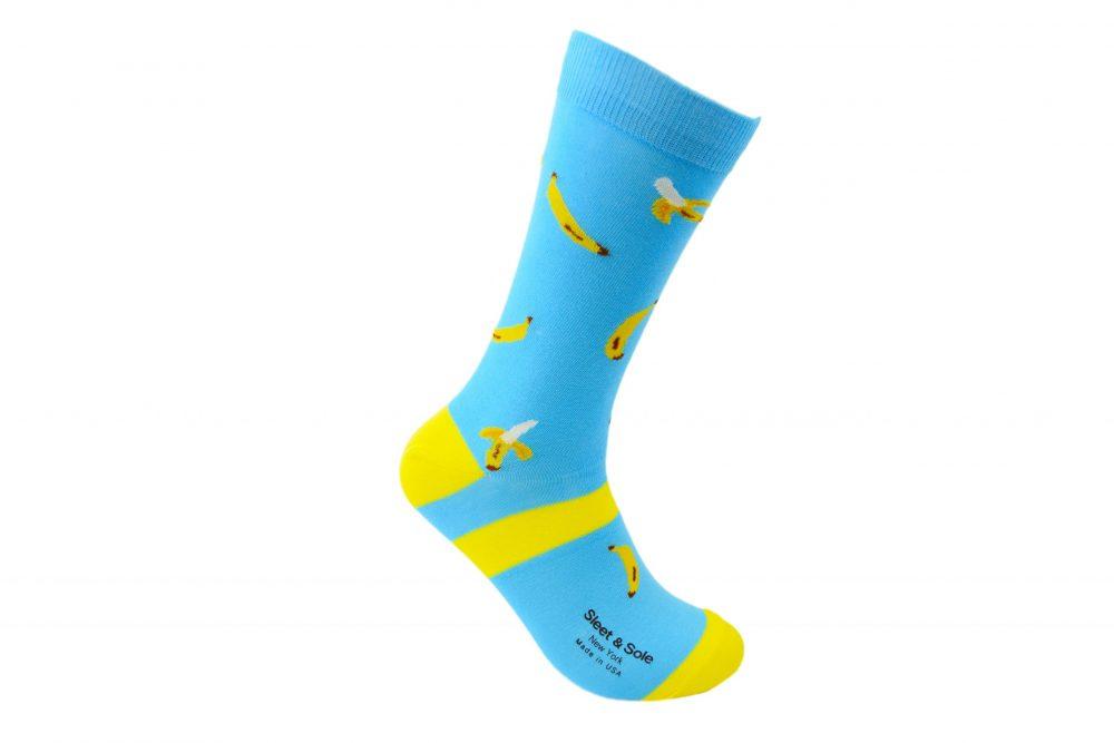 banana bamboo socks made in the usa at sleet and sole