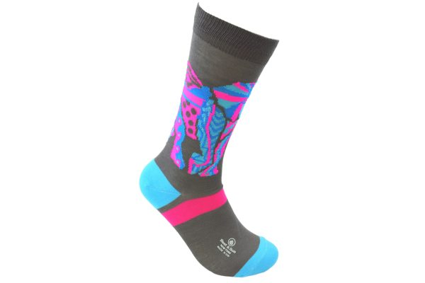 elephant mosaic bamboo socks made in the usa at sleet and sole factory