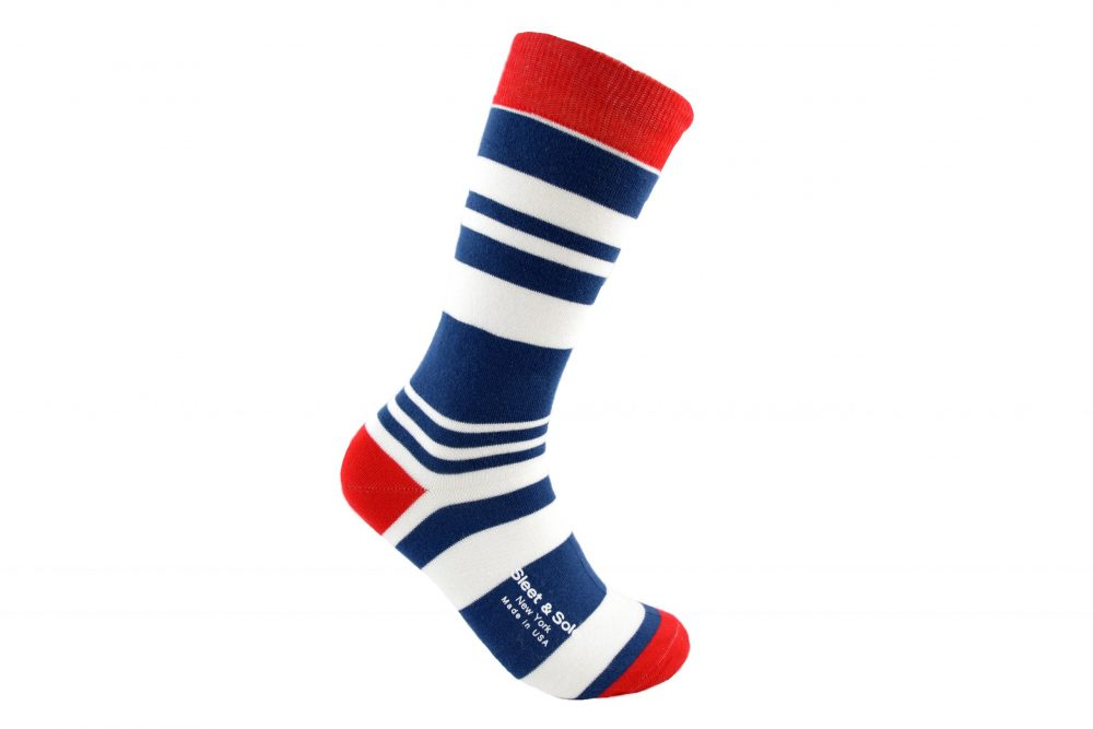 fibonacci stripes bamboo socks made in the usa at sleet and sole factory