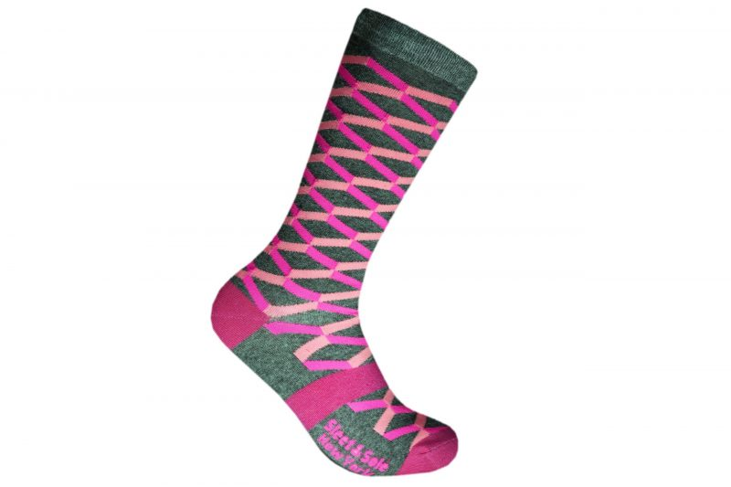 3d box recycled socks made in the usa from recycled plastic bottles at sleet and sole