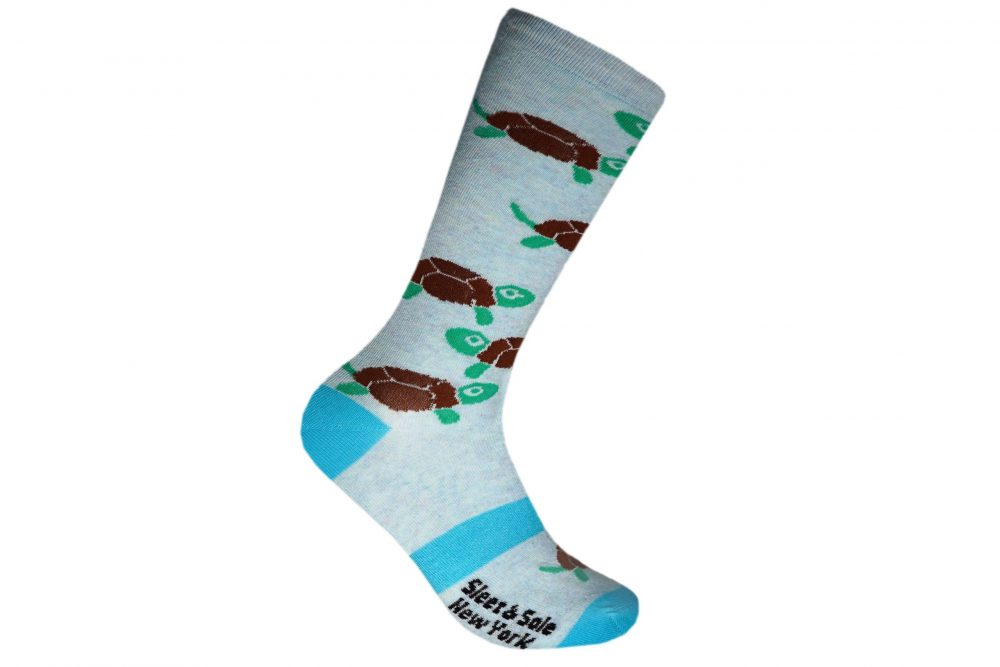 turtle recycled socks made in the usa at sleet and sole
