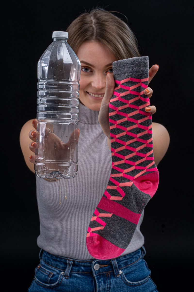 3d box recycled socks made in the usa from recycled plastic bottles