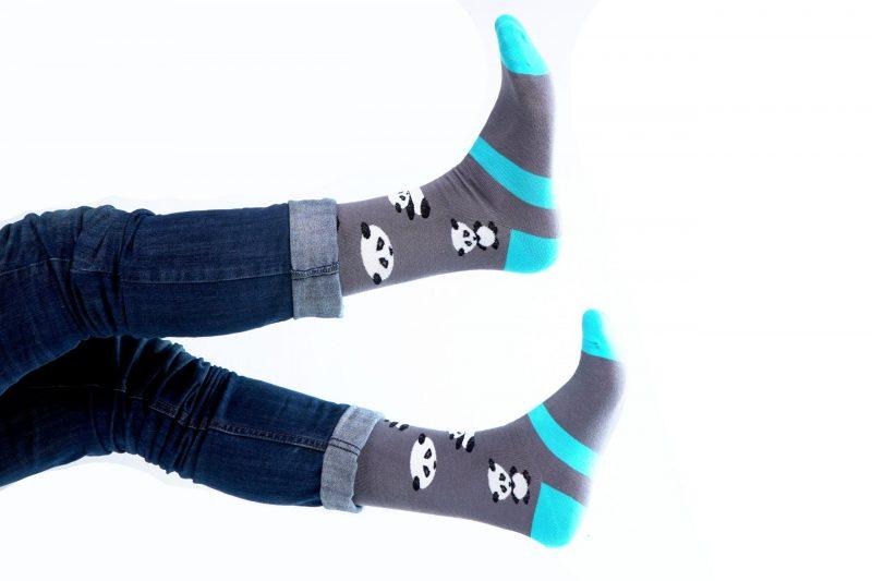 panda animal fuzzy socks made in the usa sleet and sole