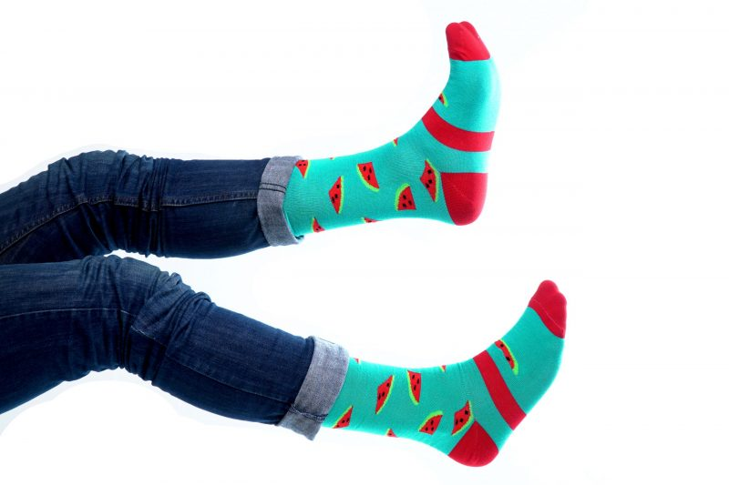 watermelon bamboo socks made in the usa at sleet and sole factory