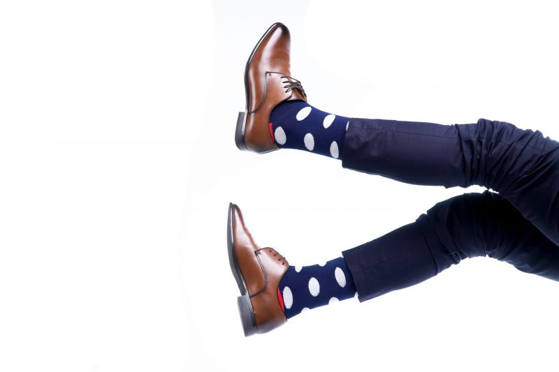 polka dot bamboo socks made in the usa at sleet and sole