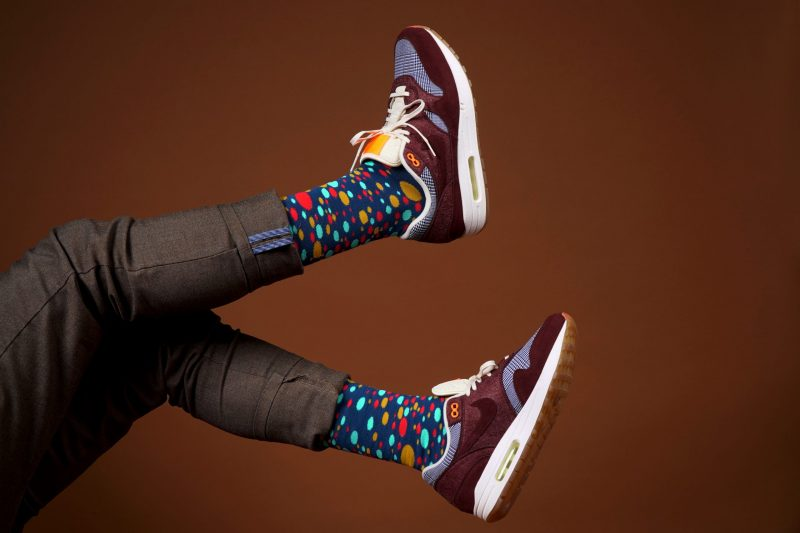 colorful dots socks sleet and sole