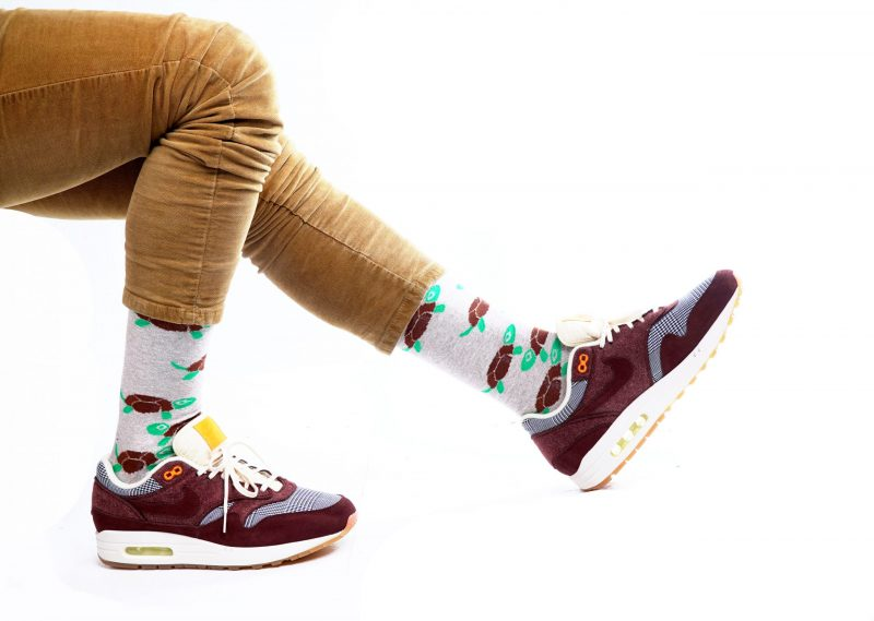 turtle animal recycled socks made in the usa from recycled plastic bottles at sleet and sole