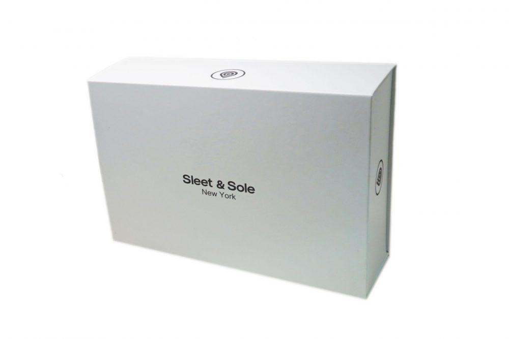 white gift box pack socks sleet and sole