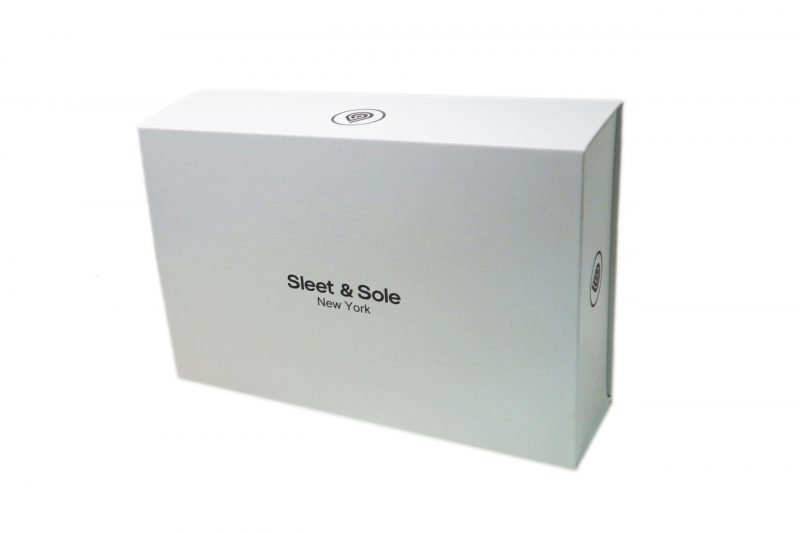 white gift box pack socks sleet and sole