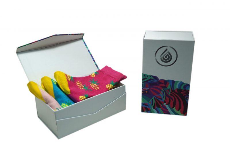 pineapple bamboo kids gift pack socks sleet and sole