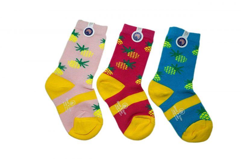 Pineapples Kids Bamboo Socks sleet and sole