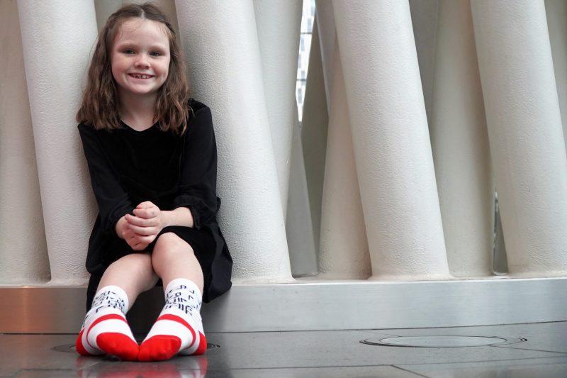 kids socks model sleet and sole