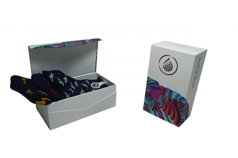 WHITE GIFT BOX 3 PACK SOCKS sleet and sole