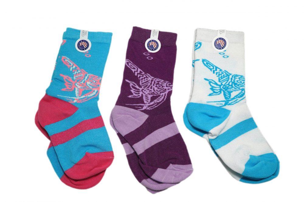 Artisanal Fish Kids Bamboo Socks sleet and sole