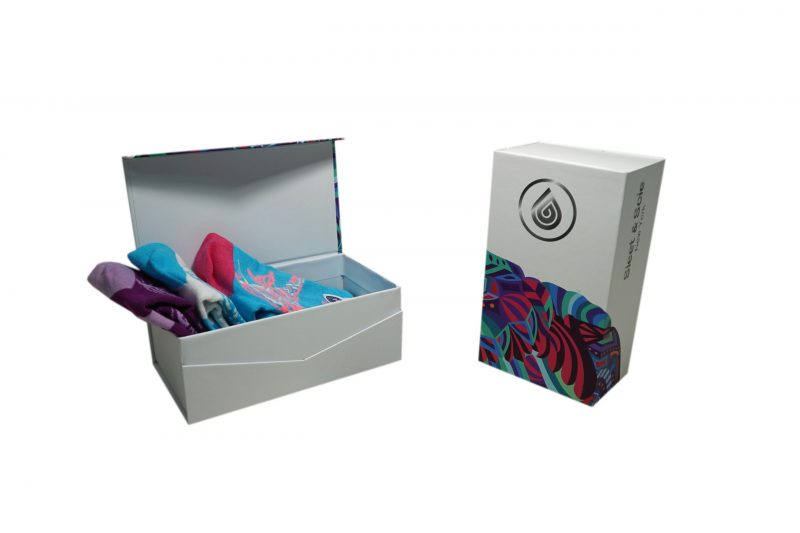 white box gift pack socks sleet and sole