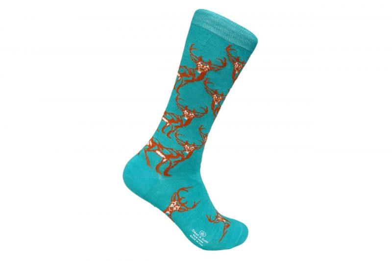 Deer Bamboo socks made in usa sleet and sole