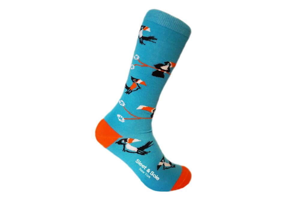 Toucan Recycled Socks sleet and sole