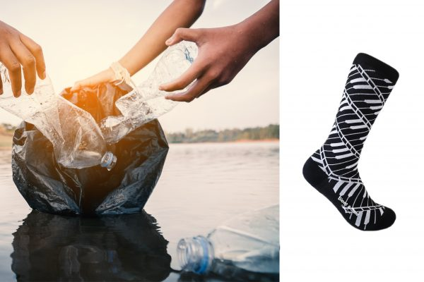 socks made from recycled materials made in usa sleet and sole