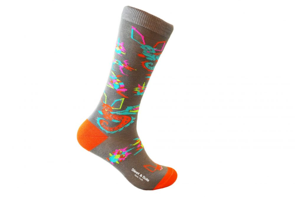 alebrijes repreve recycled socks made in usa sleet and sole