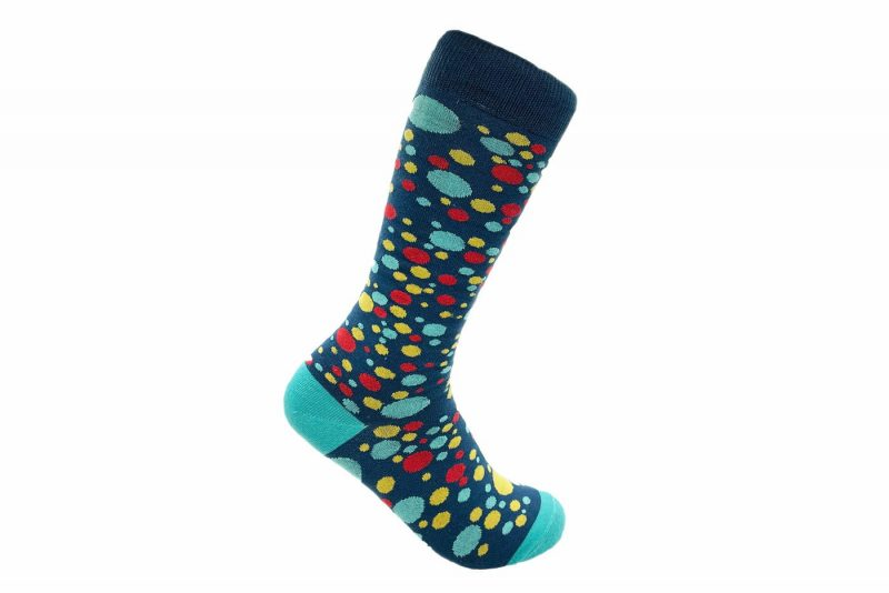dots recycled socks made from repreve fiber made in usa sleet and sole