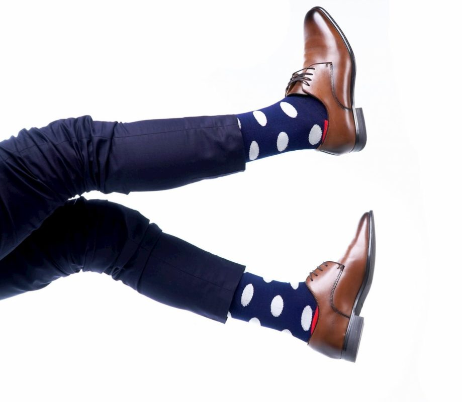 polka dot bamboo socks made in the usa at sleet and sole