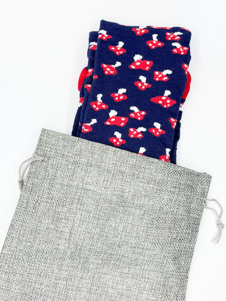blue mushroom socks made from the usa at sleet and sole factory