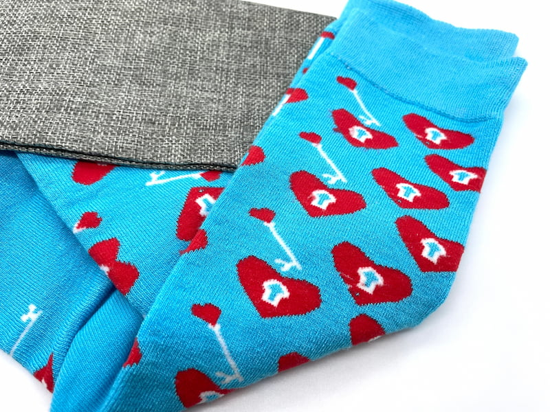 Key to my heart bamboo socks made in the usa at sleet and sole factory