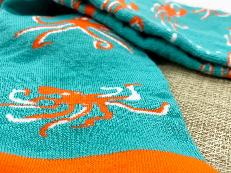 octopus repreve recycled socks made in the usa at sleet and sole