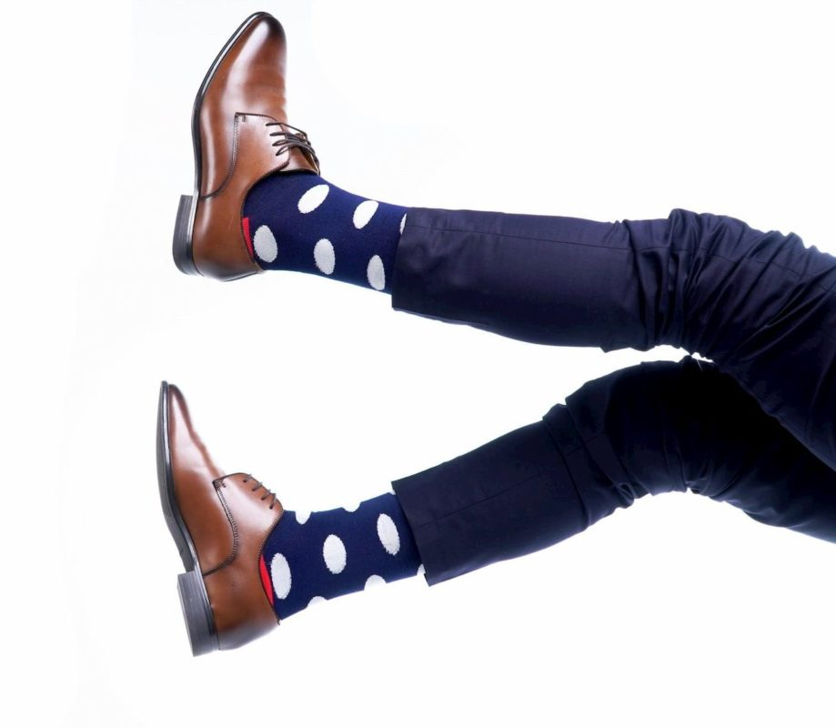 polkadot cool dress socks for men made in usa at sleet and sole